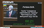 Володимир Литвин. Виступ з трибуни ВР